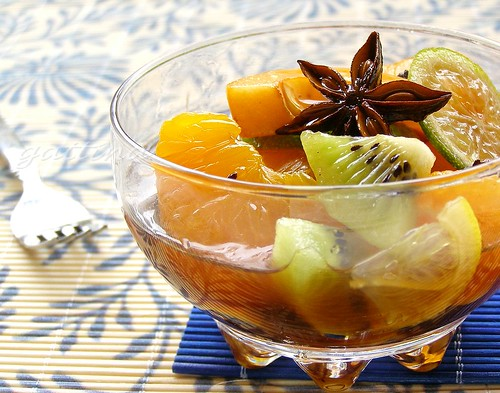 Citrus Fruit Salad in Spicy Honey Recipe from Kitchen Unplugged