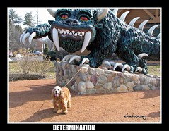 Kirby Conquers the Mighty Hodag (akahodag) Tags: dog wisconsin kirby mascot loveit anthony cocker cockerspaniel soe rhinelander artisticexpression hodag supershot 10faves goldenmix anawesomeshot diamondclassphotographer diamondclassphotographers amazingamateur ilovemypic excellentphotographersaward newacademy wonderfulworldmix flickerdiamon wetraveltheworld proudphotoshopper
