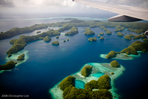 The Republic of Palau from above. Paradise found.