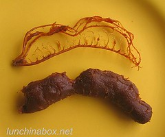 How to peel a tamarind pod #5/6