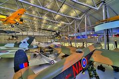 Duxford Hanger - Artizen HDR Cipher Operator (nick.garrod) Tags: museum war lancaster duxford imperial spitfire cipher hdr hanger artizen