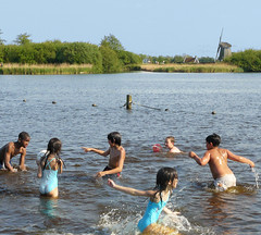 Warm weather fun in Holland (Bn) Tags: recreation clone soe naturepark ih landsmeer natuurgebied oostzaan kidshavingfun hettwiske xxxooo binnenkruier abigfave platinumphoto anawesomeshot theunforgettablepictures twiskepolder twiskemolen hollandtoday twiskemill 29degreescelsius
