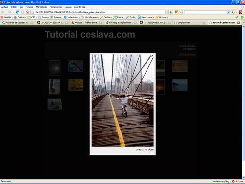 Creación de Galerías Web V | Simpleviewer y Lightbox JS desde Photoshop ceslava 9