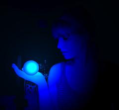 glowingball (Divine Decadence) Tags: blue woman girl photomanipulation ball circle magic glowing crystalball