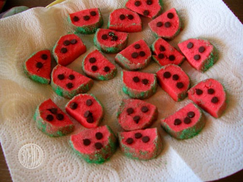 mini watermelon cookies