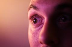 What are u looking at ! (inhiu) Tags: pink portrait eye nikon watching d300 inhiu