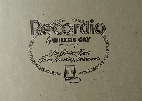 wilcox gay home recorders. Wilcox-Gay Recordio recording blank album 3