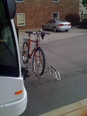 Bike on bus's bike rack