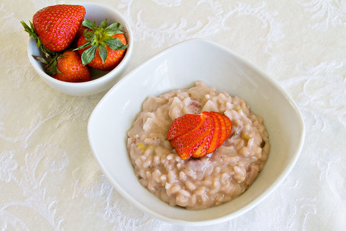 Strawberries and Cream Risotto - 5