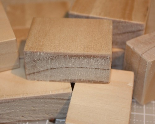 Blocks after sanding