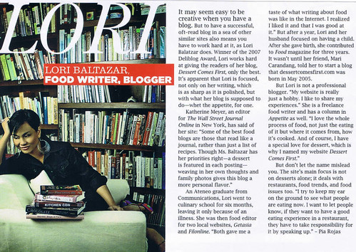 me in Preview magazine, Oct 2007