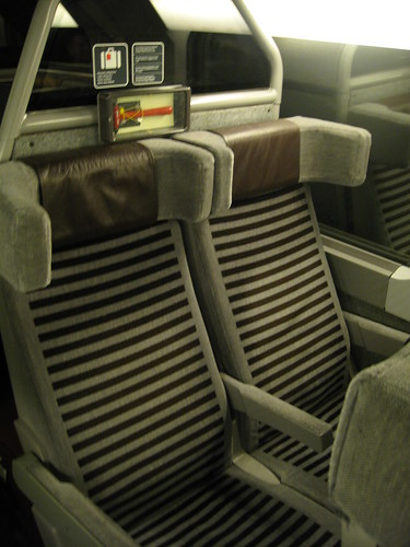Phil's seat on the Eurostar