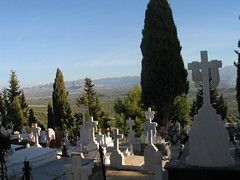 Another favourite site for graves (Micheo) Tags: cemetery graveyard landscape cementerio crosses paisaje andalucia graves olives tumbas andalusia cruces aceitunas olivos campos olivetrees olivares olivegroves allsoulsday diadelosdifuntos sierramagina begijar valledelguadalquivir