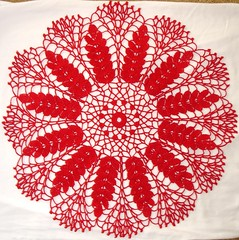 Ripe Wheat Doily 04