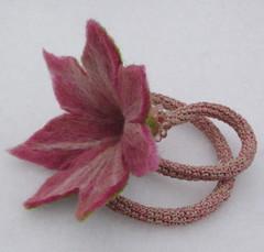 felted flower neckpiece