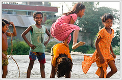 The Leap [..Demra, Bangladesh..] (Catch the dream) Tags: game colors smile childhood rural children fun jump village play action bongo joy group leap bengal bangladesh bangla bengali bangladeshi bangali flickrsbest catchthedream gettyimagesbangladeshq2