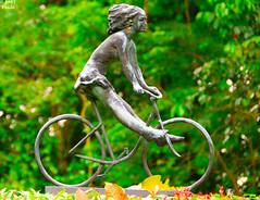 Lady Bicycle (T   J ) Tags: happy shots joy ridding outstanding 18200vr d80 mywinners abigfave teeje ultimateshot ladybicycle ysplix