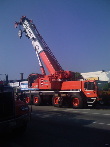 A big standing crane.