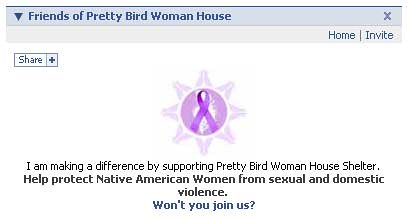 Pretty Bird Woman House Facebook app display
