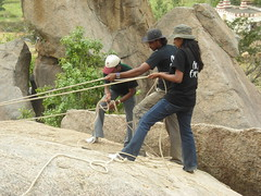 The Crew (aanjhan) Tags: trekking bangalore rappelling rbin ramnagar chimneyclimbing