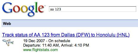 Google Flight Results