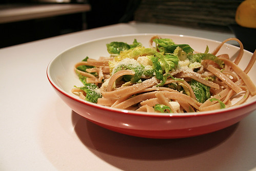 Fettuccini with Marinated Brussel Sprouts