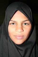 A Confident Gaze (hazy jenius) Tags: portrait girl veil muslim islam headscarf middleeast hijab syria shia niqab damascus shiite sayyidazeinab