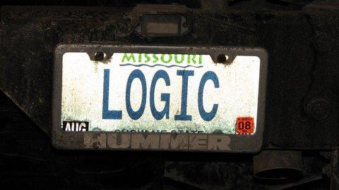 logic number plate