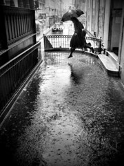 Wet jump (Rui Palha) Tags: street people urban blackandwhite bw blackwhite rainydays interestingness4 ruipalha hcbrevisitedtopnotch