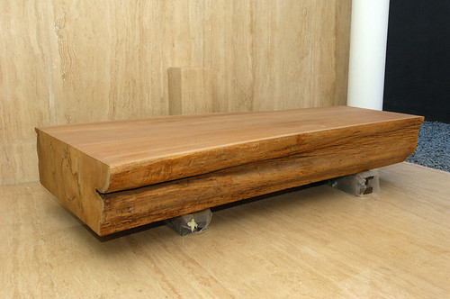 One Piece Solid Teak Coffee Table