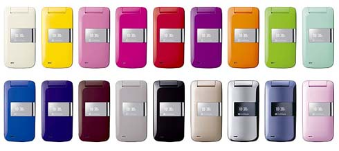 softbank pantone phones