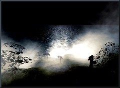 Scary Fog in the Night (sonja_pinion) Tags: fog scary secondlife johncarpenter sanctumsanctorum windlight cubism themoulinrouge goldenglobe thefog flickrstars golddragon almostanything eliteimages halloween2008 flickrstas sonjapinion llovemypic stealingshadows showmeyourqualitypixels awardtree amongstthethorns