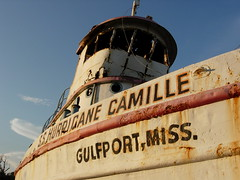 S.S. Hurricane Camille (Viajante) Tags: mississippi boat rust afternoon damage gulfport hurricanecamille nikone4200 harrisoncounty