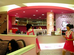 Hello Kitty Cafe Taipei Taiwan Interior (Chamelle Photo) Tags: pink food cute cakes public cake cat japanese this restaurant see design cafe all with photos sweet hellokitty interior treats cartoon taiwan icon tagged desserts chandelier birthdaycake bakery kawaii pastry sweets theme click taipei   pastries decor  fuxing zhongxiao daanroad hellokittysweets