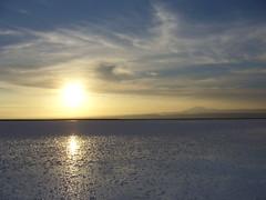 San Pedro Salar Atacama - salar - coucher de soleil