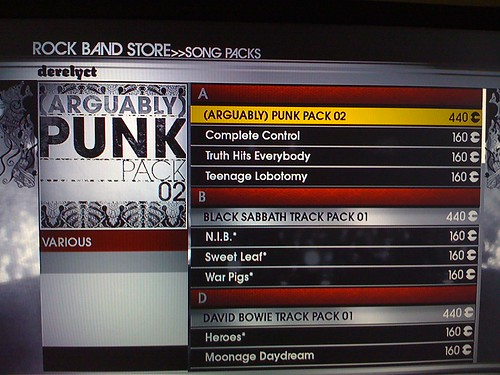 Rock Band update