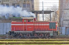 Bulgaria State Railways (BDZ) diesel-hydraulic, siderod-connected shunting locomotive 52 119, a product of the old DDR (East Germany), at speed in Nova Zagora, Bulgaria, February 21, 2007 (Ivan S. Abrams) Tags: arizona canon20d ivan railway trains bulgaria maintenance getty abrams railways trainspotting locomotives gettyimages railroads smrgsbord tucsonarizona railfans 12608 diesels railwaylocomotives bdz diesellocomotives railwayenthusiasts onlythebestare bulgariastaterailways railwayshops ivansabrams trainplanepro kostadinmihailov pimacountyarizona safyan arizonabar arizonaphotographers ivanabrams cochisecountyarizona locomotivemaintenancefacilities locomotivemaintenanceshops railwaysdepots depotsbulgariaplovdiv bulgariakosta mihailovkostadin mihailovrailfansrailroadsrailwaystrainscanon 20donlthebestarebdzeuropean trainpsotting gettyimagesandtheflickrcollection copyrightivansabramsallrightsreservedunauthorizeduseofthisimageisprohibited tucson3985gmailcom ivansafyanabrams arizonalawyers statebarofarizona californialawyers copyrightivansafyanabrams2009allrightsreservedunauthorizeduseprohibitedbylawpropertyofivansafyanabrams unauthorizeduseconstitutestheft thisphotographwasmadebyivansafyanabramswhoretainsallrightstheretoc2009ivansafyanabrams abramsandmcdanielinternationallawandeconomicdiplomacy ivansabramsarizonaattorney ivansabramsbauniversityofpittsburghjduniversityofpittsburghllmuniversityofarizonainternationallawyer