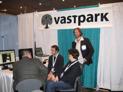 Virtual Worlds 2008 - VastPark Booth