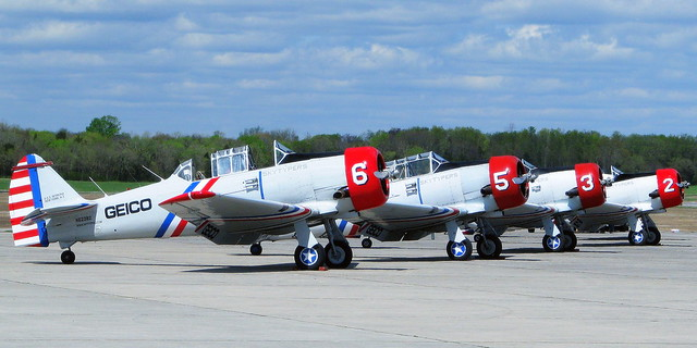Skytypers parked in a row