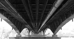 Under the bridge (Daniel*1977) Tags: street camera city bridge red urban blackandwhite bw white black hot color me water metal sepia digital self work river myself mirror boat town photo interesting europe walks flickr chili day ship close prague no steel daniel side under pipes gray captured picture shapes samsung poland praga symmetry communication april pro warsaw civic symmetric symmetrical peppers around straight did 1977 2008 citizen rhcp symetric wisla underthebridge symetria nocolor pro815 samsungpro815 wgite kuliski didmyself gettypoland1 gettycentraleurope
