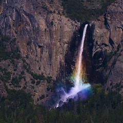bridalveil (spdorsey) Tags: mist 20d nature colors digital canon photography waterfall rainbow spectrum vivid yosemite refraction granite dslr bridalveil dorsey tunnelview wawona dorseygraphics spdorsey
