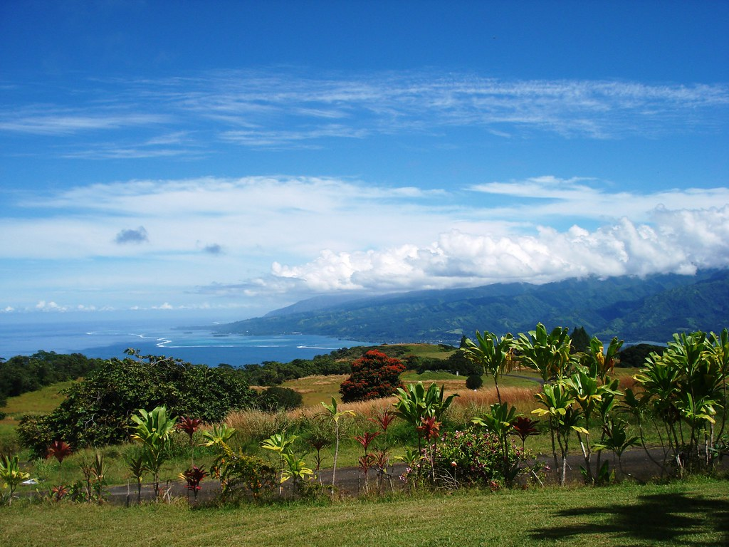 Tahiti - View from a friend's house in Puunui