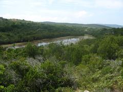 Réserve des Tre Paduli : 3ème étang vu du promontoire rocheux