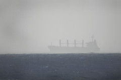 Ghost Ship (dalinean) Tags: ocean mist water boat ship transport sigma vessel vision shipping distance tones sd10 f8 ghostship catdioptric 600mmsigma