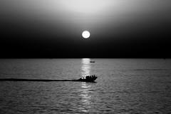 Boats at sunset - Tel-Aviv beach (Lior. L) Tags: boatsatsunsettelavivbeach boats sunset telaviv beach boatsatsunset telavivbeach sea seascapes blackandwhite blackwhite monochrome silhouettes reflection sun sky