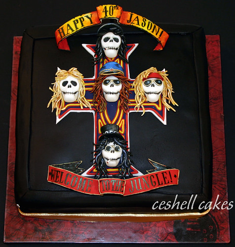 Guns N Roses Appetite for Destruction Cake. Reproduction of the album cover