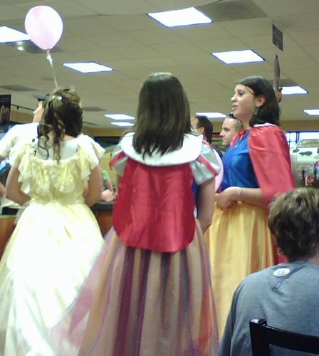 Trio of princesses at Chick Fil-A