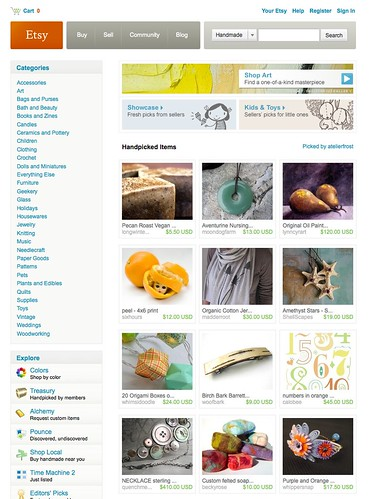 Etsy Front Page, 4/11/2010