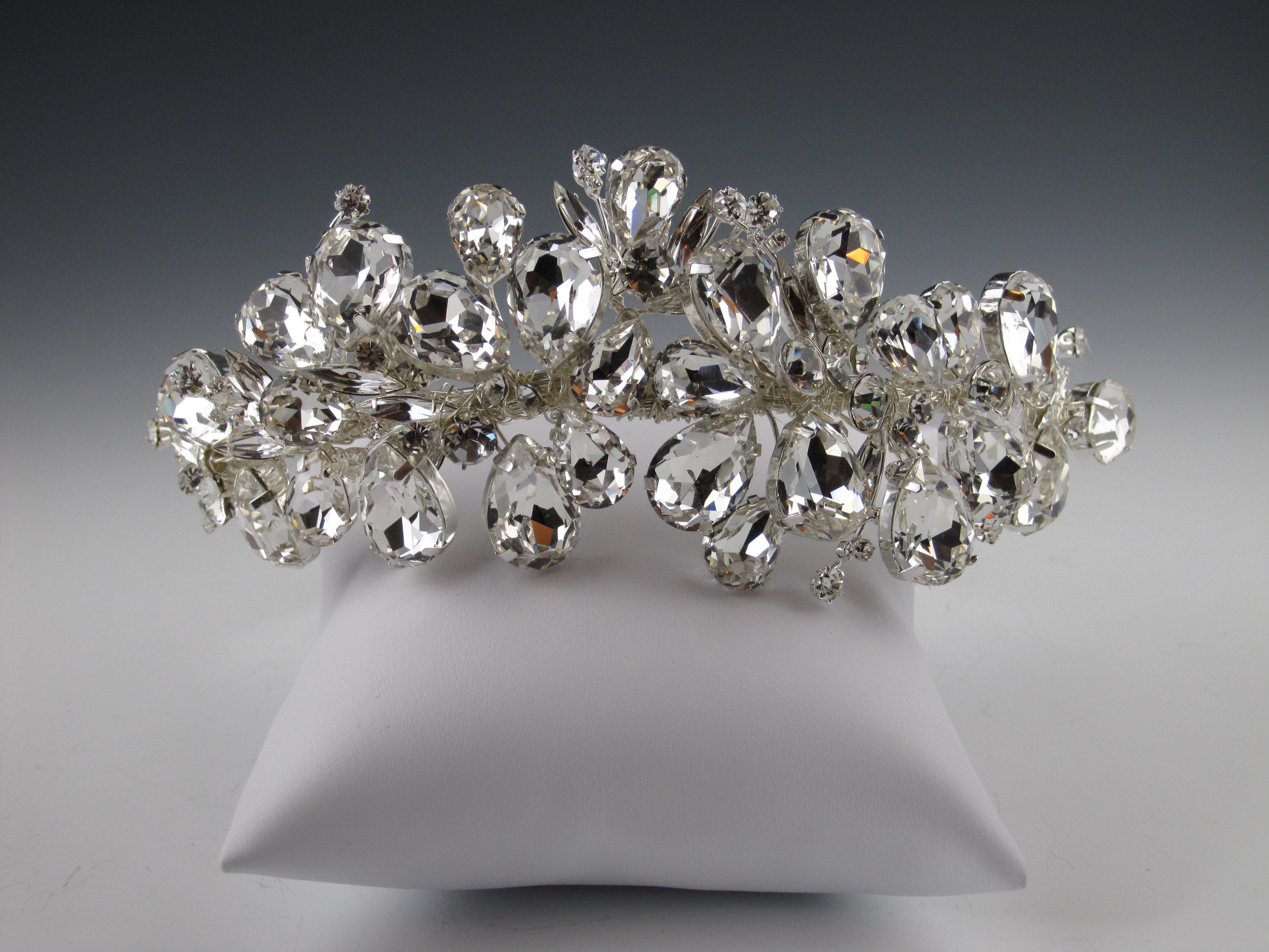 glam bridal headband, old hollywood glam bridal headband