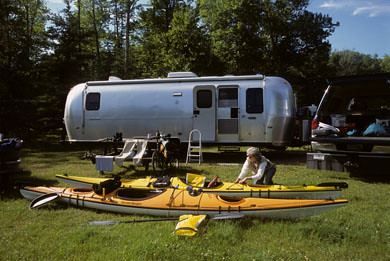 Kayaks extend Airstream adventures